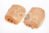 Fotografie hot dog on isolated white background