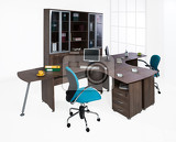 Photo office furniture on a white background