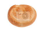 different kinf of bread and pastry on isolated background