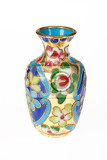 isolated old vase with ornament