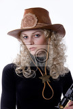 young woman sressed ina western style