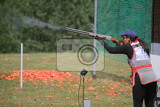 Photo sporting clay pigeon shooting