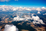Fotografie view of the earth landscape from an airplane above the clouds