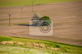 beautiful summer rural landscape with plowed field curves rural landscape spring landscape beautiful czech highland countryside