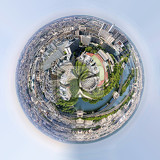 planet of very nice panorama of paris france from eiffel tower little planet with paris cityscape view from eiffel tower tiny planet concept