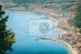 beautiful landscape panorama taormina sicily italy