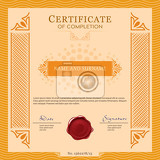 Fotografie certificate vecter template design layout