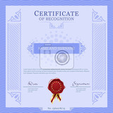 Photo certificate vecter template design layout