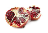 tasty pomegranate fruit on white background