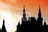 Photo moscow russia red square sundown