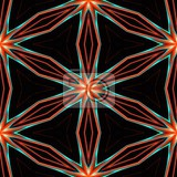 red blue seamless abstract pattern a six angle star on black background