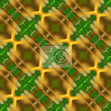 green and yellow abstract seamless tiles pattern