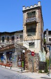 City. Building, street, house demolitions, poverty. Greece - Drama.