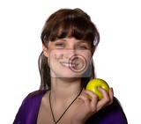 Fotografie Woman with apple