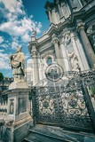 photos of individual parts of the cathedral of saint agatha in catania piazza del duomo in sicily italy