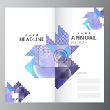 annual business report brochure triple layout template