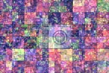 Fotografie abstract background with color mosaic pattern