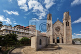 andohalo cathedral in antananarivo builded on a cliff where queen ranavalona had early malagasy christian martyrs executed no people capital of madagascar antananarivo