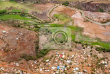 Fotografie view from plane to the earth landscape madagascar coast near antananarivo deforestation is an global environmental problem