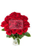 Fényképek bouquet of fresh valentine red roses isolated on white background
