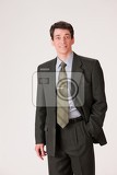 young businessman in a suit on isolated background