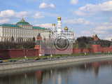 Photo moscow kremlin and river russia