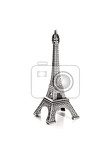 small copy of eiffel tower on white background