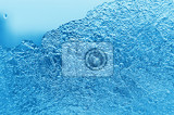natural ice and water drop on glass background
