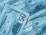 abstract money background from new american dollars