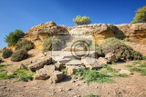 ruins entrance of the fifth gate from the south side fortifications porte v agrigento sicily famous valle dei templi
