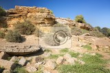 Fotografie ruins entrance of the fifth gate from the south side fortifications porte v agrigento sicily famous valle dei templi