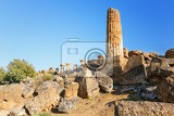 Fotografie view of the ruins in the valley of the temples in agrigento sicily italy