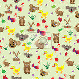 Fotografie cute background for children animals draw for babys