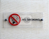 Fotografie no smoking notice on white wall