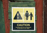 caution notice  children must be accompanied by adults