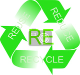 Fotografie recycle logo