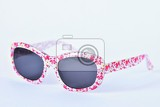 Fényképek sunglasses baby pinkwhite colorful glasses isolated on a clean white background