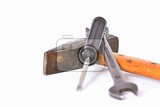 Photo classic tools for routine repairs isolated on a white background