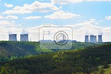 nuclear power plant dukovany czech republic europe landscape with forests and valleys