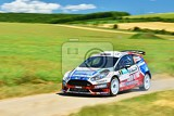 Photo hustopece czech republic june 18 2016 rally car race