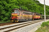 Fotografie beautiful czech passenger train with carriages