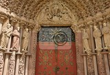 Fotografie porta coeli gothic portal of the romanesquegothic basilica of the assumption of the virgin mary czech republic built in 1230