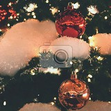 colorful christmas decoration winter holidays and traditional ornaments lighting chainsbulbs for seasonal background