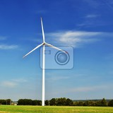Photo eco power wind turbine for alternative energygreen