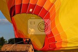 Fotografia preparation for the start of the hot air balloon