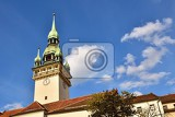 the city of brno  czech republic  europe gate of the old city hall a photo of the beautiful old architecture and tourist attraction with a lookout tower tourist information center
