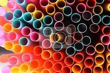 straws macro abstract image with beautiful multicolored background