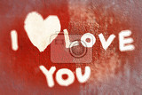 Fotografia inscription i love you with abstract heart