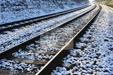 Fotografie train tracks beautiful shot and concept for transportation train travel and sunset travel