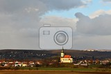 nice ancient church troubsko  south moravia  czech republic church of the assumption